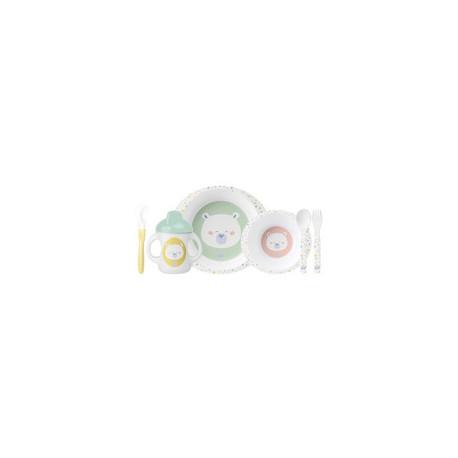 Vajilla infantil 6 piezas Saro Happy Colors 5185