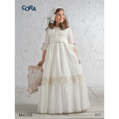 Vestido OULET Comunión CORA 58336