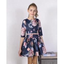 vestido amaya  neopreno estampado 210780 inv19